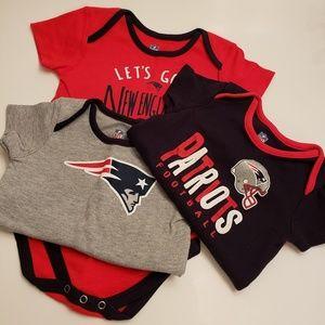 NFL Patriots bodysuit set of 3
